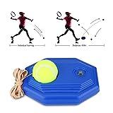 Tennis di Palla Formazione e Corda in Gomma ad Alta Elasticità con Base Accessorio per Addestramento da Tennis