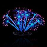 Naisicatar Aquarium-Deko, leuchtende künstliche Korallenpflanze, sicher, einfache Reinigung, aus Silikon, für Süß- und Salzwasser