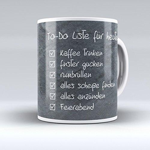 Creativgravur Kaffeetasse Kaffeebecher - To-Do Liste - das perfekte Geschenk für Arbeitskollegen...