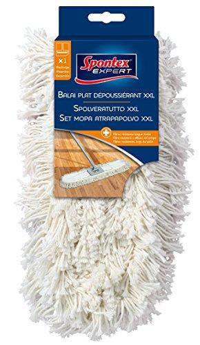 Spontex Expert Sol poussière Balai recharge XXL 100% coton