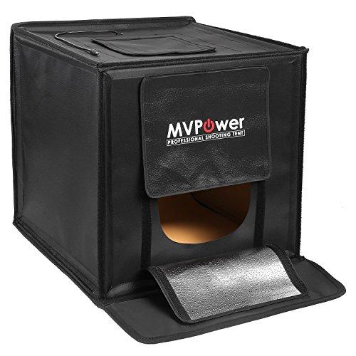Galleria fotografica MVPOWER Studio Fotografico Tenda Portatile con 50w Luce LED,40x40x40cm,4 Sfondo (Bianco, Nero, Arancione, Verde)