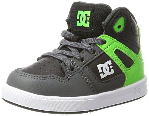 Dc-jungen Skate Schuhe (DC Shoes Jungen Rebound UL Sneaker, Grün (Green/Grey/White-Combo), 21.5 EU)