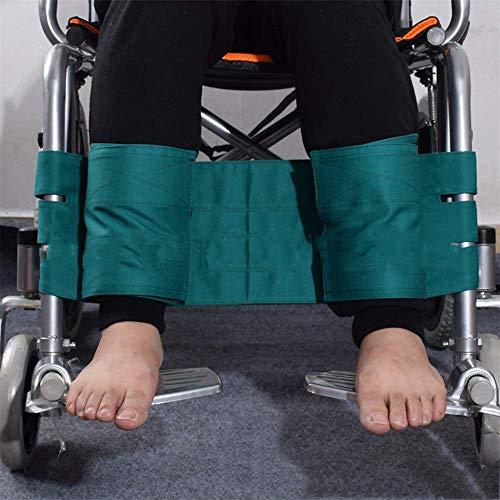 Einstellbare Fußstütze für den Rollstuhl mit Beinstützenriemen Medizinische Gurte Sicherheitsgurt Fußstütze Beckengurt für Patienten,Green