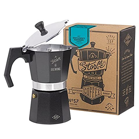 Gentleman's Tools Coffee Percolator, Black with Silver Trim