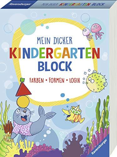Mein dicker Kindergartenblock: Farben, Formen, Logik