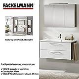Badmöbel Set Fackelmann VADEA Waschbeckenunterschrank / Waschbecken / Spiegel