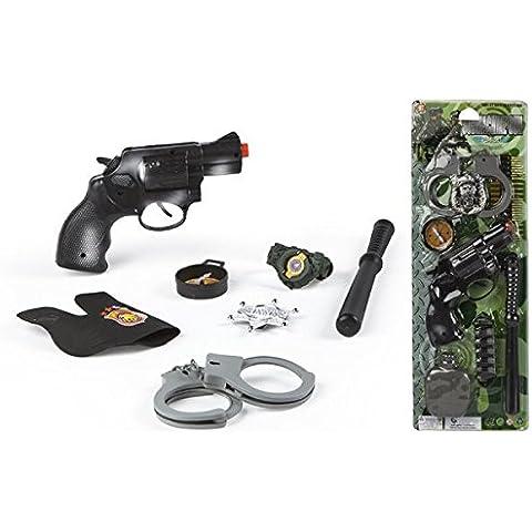 Color Baby - Kit de policía con pistola y 5 accesorios, 17 x 49 cm (37100)