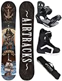 AIRTRACKS SNOWBOARD SET - WIDE BOARD NEPTUNE 158 - SOFTBINDUNG