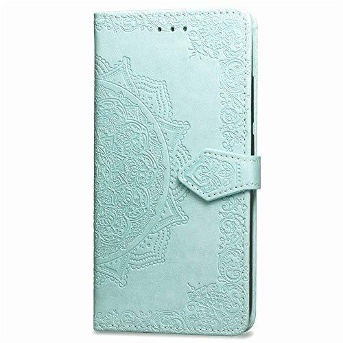 Carols Coque Huawei P8 Lite 2017, PU Etui TPU Bumper Case,Cuir PU Housse Protection Antichoc Coquille Coque pour Huawei P8 Lite 2017 (5.2 Zoll) - Vert