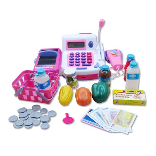 I-Gadgets Realistic Educational Cash Register Toy Supermarket Set ( color may vary )