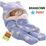 BRANDONN Sleeping Bag for Babies, 30-inch (Star Blue)