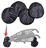 4x - Universal Protection Cover For Wheels Pram Buggy Pushchair Front Rear