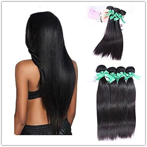 XQXHair 8A La migliore 100% non trattati capelli umani del Virgin del tessuto brasiliano dei capelli Prodotti trame dei capelli Estensioni 8-26 3Pcs / lot 300g Natural Color , 3pcs - Calore Trattato Capo