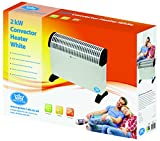 Prem-i-air 2kW Home or Office Convector Heater/3 Heat Settings with Simple Push Button Controls,Thermostat with rotary control. Overheat Safety Cut Out/Can be Wall or Floor Mounted
