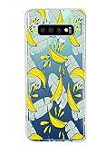 Oihxse Compatibile con Cover Galaxy S7,Galaxy S7 Cover in Silicone Morbido,Chiaro TPU Trasparente Antiurto Antigraffio Silicone TPU Case,Cornice Paraurti Antiurti Ultra Sottile (banane)