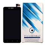 Visiodirect Ecran complet pour Asus Zenfone 3 Max ZC553KL X00DD 5.5' noir téléphone portable vitre tactile + écran LCD