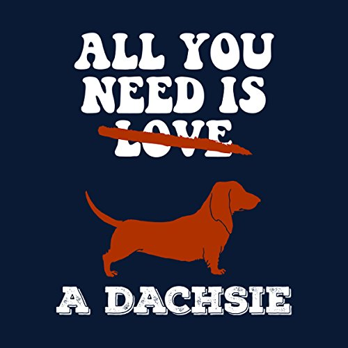 All You Need Is A Dachsie Men's Hooded Sweatshirt Navy blue