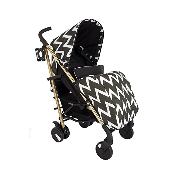 My Babiie MB51 Gold Chevron Stroller My Babiie Suitable from birth to maximum 15kg Extendable 3 position canopy Lockable swivel front wheels 2