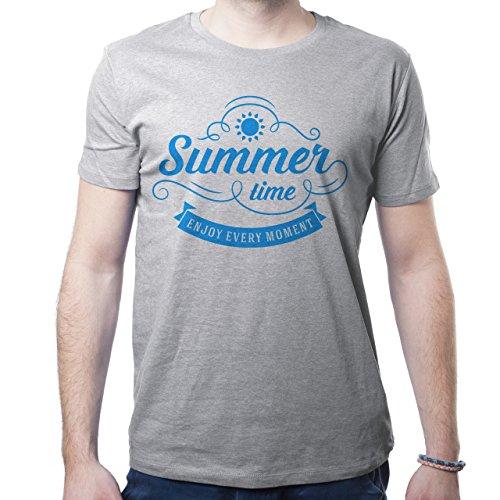 Summer Time Enjoy Every Moment Herren T-Shirt Grau