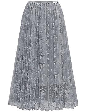Mujer Maxi Faldas Largas Elegante Plisada Faldas de Fiesta