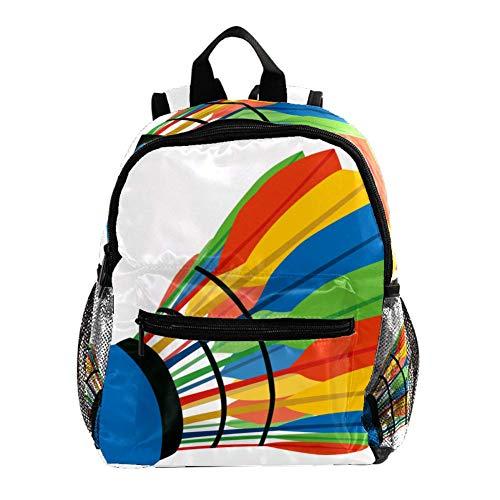 Machst Du Sport Color Badminton Rucksack 3-8 Jahre Kids Lightweight Toddler Daypack für Vorschule Kindergarten und Reise Baby Wickeltasche 25.4x10x30CM