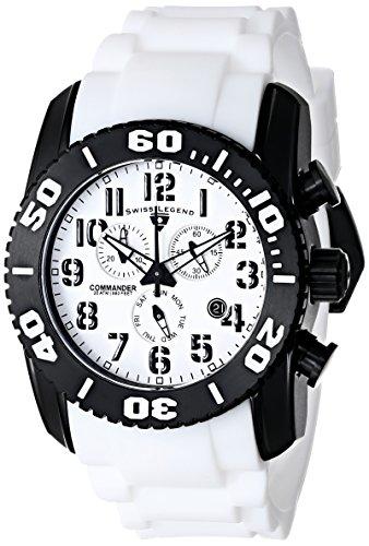 SWISS LEGEND 11876-TIB-02 - Reloj para hombres, correa de goma