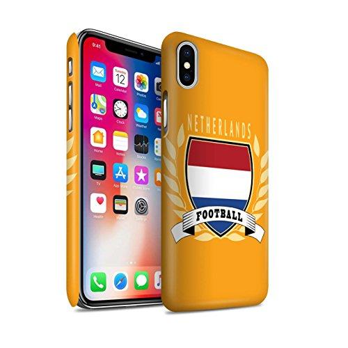 STUFF4 Matte Snap-On Hülle / Case für Apple iPhone X/10 / Schottland/Scottish Muster / Fußball-Emblem Kollektion Niederlande