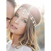 83d9371ed069 Handmadejewelrylady - Bijou de tête pour femme - Métal et strass - Tendance