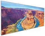 Wallario Küchenrückwand aus Glas, in Premium Qualität, Motiv: Hufeisenförmiger Mäander des Colorado River | Spritzschutz | abwischbar | pflegeleicht