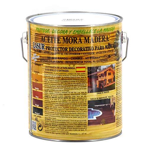 Aceite mora madera Satinado Incoloro - 4 L