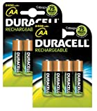 Duracell Rechargeable 2400 mAh AA Batteries - 8-Pack