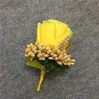 Wisilan – Broche de ramillete de flores artificiales para novio o novio, ramo de tela, ramillete para decoración de bodas, bailes, fiestas (17 colores)