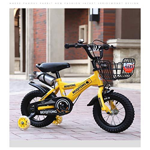 16 Pulgadas Bicicletas Infantiles,Bicicleta para NiñOs 4-8 AñOs,Bicicleta con Marco Acero con Ruedas...
