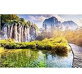 Ytdzsw Benutzerdefinierte Fototapete Wandmalerei Natur Tapete 3D Für Schlafzimmer Wasserfall Und Teich Mit Single-Planke Br-400X280Cm