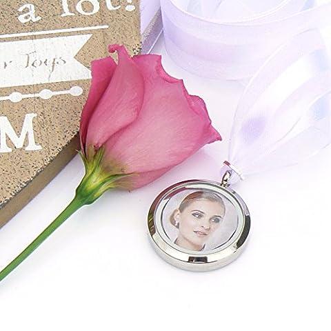 Picture Frame Bouquet Charm - Memory Locket - Photo Locket
