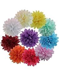 HABI 10 stk Chiffon Blume Cluster Haarspangen Alligator Haar Barrettes Clip für Kinder Mädchen Frauen