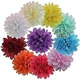 10Pièces/Lot Pince à Cheveux avec Fleur à Ruban Clips Cheveux Barettes Pour Fille Fillette