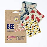 Bee Wrap par Anotherway Pack Original - Emballage Alimentaire Réutilisable de Cire d'abeille - Lot de 3 : 1 petit, 1 moyen et 1 grand | Fabriqué en France MyBeeWrap