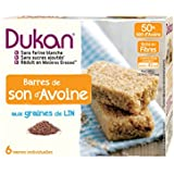 Dukan Barres de Son d'Avoine aux Graines de Lin 150 g - Lot de 6