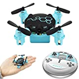 TianranRT Mini One Pocket Control remoto FQ777 FQ04 Beetle Mini Pocket Drone con cámara Modo sin cabeza RC Quadcopter RTF (Azúl)