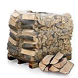PALIGO Brennholz Kaminholz Feuerholz Grillholz Ofenholz Smokerholz Scheitholz Buchen Holz Trocken Ofenfertig Buche 33cm 1RM = 1,4SRM / 1 Palette Heizfuxx
