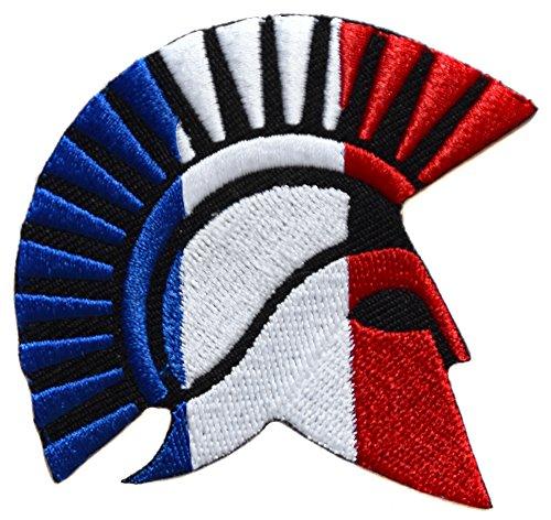 ecusson France Francais Drapeau Casque opex Tap Soldat Spartan 7x6,5cm Legion thermocollant