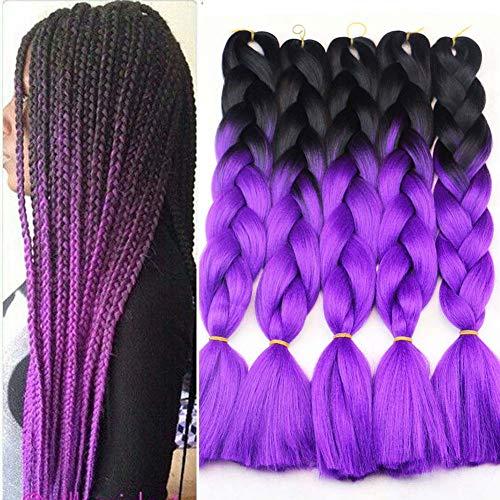 Frauen-Perücke-schmutzige Haar-Verlängerung, Steigungs-purpurrote Große Borte-hitzebeständige Faser-natürlicher Täglicher Gebrauch (Cleopatra Machen Kostüm)