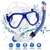 CAVN Snorkel Set with Diving Mask & Full-dry Top Snorkel,180° Panoramic Scuba Mask