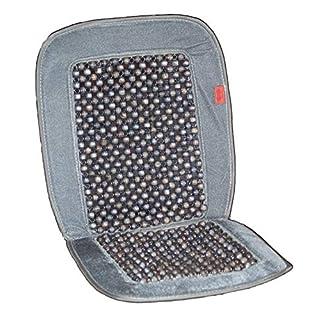 autooptimierer.de Auto-Sitzauflage Holzkugel mit universeller Passform - Nostalgie Auflage Holzperlenaufleger Autositz (Luxus Anthrazit)
