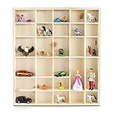 LAUBLUST Setzkasten aus Holz in Größe L für Sammelgegenstände - Kiefer Unbehandelt - ca. 45 x 40 x 4 cm - Schaukasten aus Massivholz