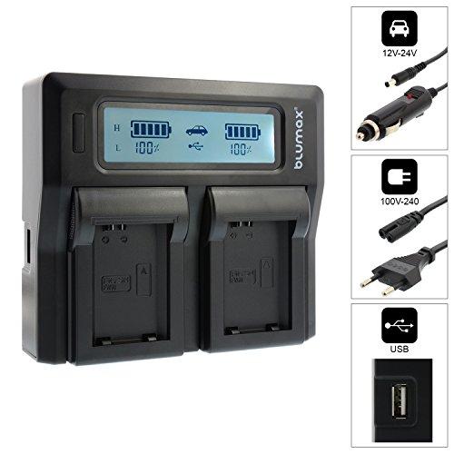 Doppelladegerät NP-FW50 Dual Charger | passend zu Sony Alpha a7, a7 II, a7R, a7S, a3000, a5000, a5100, a6000, QX1, NEX-3, NEX-3N, NEX-5, NEX-5N, NEX-5R, NEX-5T, NEX-6, NEX-7, NEX-C3, NEX-F3, A33, A35, A37, A55V, DSC-RX10 || 2 Akkus gleichzeitig Laden -