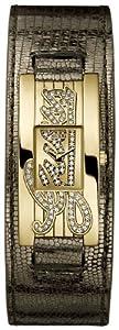 Guess W90056L1 - Reloj analógico de mujer de cuarzo con correa de piel dorada de Guess