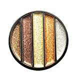 Glitzer Lidschatten, 12shage Funkeln Diamond Augenschatten Pigmente Powder Nagel Glitzer Puder Make-up Kosmetik (F)