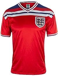 England Official Football Gift Mens 1982 World Cup Finals Home & Away Kit Shirt